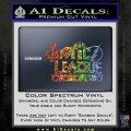 THE JUSTICE LEAGUE TEXT LOGO VINYL DECAL STICKER Sparkle Glitter Vinyl 120x120