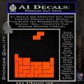 Tetris Decal Sticker D1 Orange Vinyl Emblem 120x120