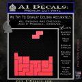 Tetris Decal Sticker D1 Pink Vinyl Emblem 120x120