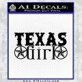 Texas Girl Decal Stickers Stars CR Black Logo Emblem 120x120