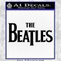 The Beatles Decal Sticker TXT Black Logo Emblem 120x120
