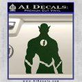 The Flash Silhouette Vinyl Decal Sticker Dark Green Vinyl 120x120