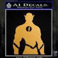 The Flash Silhouette Vinyl Decal Sticker Metallic Gold Vinyl Vinyl 120x120