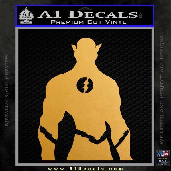 The Flash Silhouette Vinyl Decal Sticker Metallic Gold Vinyl Vinyl