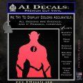 The Flash Silhouette Vinyl Decal Sticker Pink Vinyl Emblem 120x120