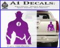 The Flash Silhouette Vinyl Decal Sticker Purple Vinyl 120x97