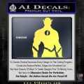 The Flash Silhouette Vinyl Decal Sticker Yelllow Vinyl 120x120