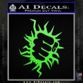 The Incredible Hunk Fist Decal Sticker Lime Green Vinyl 120x120