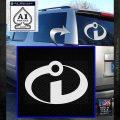 The Incredibles Decal Sticker Logo Emblem2 White Emblem 120x120