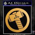 Thors Hammer Mjolnir Vinyl Decal Sticker Metallic Gold Vinyl Vinyl 120x120