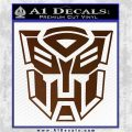 Transformer Autobots 3D Decal Sticker Brown Vinyl 120x120