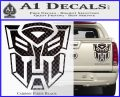 Transformer Autobots 3D Decal Sticker Carbon Fiber Black 120x97