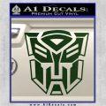 Transformer Autobots 3D Decal Sticker Dark Green Vinyl 120x120
