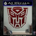 Transformer Autobots 3D Decal Sticker Dark Red Vinyl 120x120