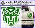 Transformer Autobots 3D Decal Sticker Green Vinyl 120x97