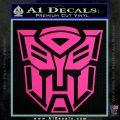 Transformer Autobots 3D Decal Sticker Hot Pink Vinyl 120x120