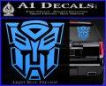Transformer Autobots 3D Decal Sticker Light Blue Vinyl 120x97