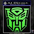 Transformer Autobots 3D Decal Sticker Lime Green Vinyl 120x120