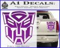 Transformer Autobots 3D Decal Sticker Purple Vinyl 120x97