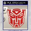 Transformer Autobots 3D Decal Sticker Red Vinyl 120x120
