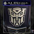Transformer Autobots 3D Decal Sticker Silver Vinyl 120x120