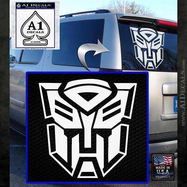Transformer Autobots 3D Decal Sticker White Emblem