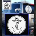 U.S. Navy Anchor CR Decal Sticker White Emblem 120x120