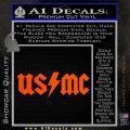 USMC AC DC Decal Sticker Orange Vinyl Emblem 120x120