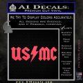 USMC AC DC Decal Sticker Pink Vinyl Emblem 120x120