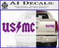 USMC AC DC Decal Sticker Purple Vinyl 120x97