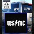 USMC AC DC Decal Sticker White Emblem 120x120