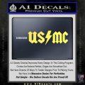 USMC AC DC Decal Sticker Yelllow Vinyl 120x120