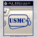 USMC Marine Dog Tags Decal Sticker Blue Vinyl 120x120