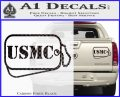 USMC Marine Dog Tags Decal Sticker Carbon Fiber Black 120x97