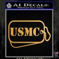 USMC Marine Dog Tags Decal Sticker Metallic Gold Vinyl 120x120