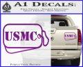 USMC Marine Dog Tags Decal Sticker Purple Vinyl 120x97