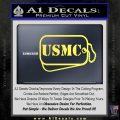 USMC Marine Dog Tags Decal Sticker Yelllow Vinyl 120x120