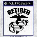USMC Retired Decal Sticker Black Logo Emblem 120x120