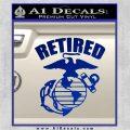 USMC Retired Decal Sticker Blue Vinyl 120x120