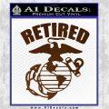 USMC Retired Decal Sticker Brown Vinyl 120x120