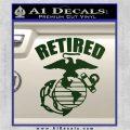 USMC Retired Decal Sticker Dark Green Vinyl 120x120