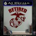 USMC Retired Decal Sticker Dark Red Vinyl 120x120