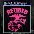 USMC Retired Decal Sticker Hot Pink Vinyl 120x120