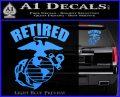 USMC Retired Decal Sticker Light Blue Vinyl 120x97