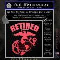 USMC Retired Decal Sticker Pink Vinyl Emblem 120x120