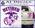 USMC Retired Decal Sticker Purple Vinyl 120x97