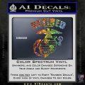 USMC Retired Decal Sticker Sparkle Glitter Vinyl 120x120