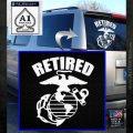USMC Retired Decal Sticker White Emblem 120x120