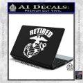 USMC Retired Decal Sticker White Vinyl Laptop 120x120
