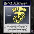 USMC Retired Decal Sticker Yelllow Vinyl 120x120